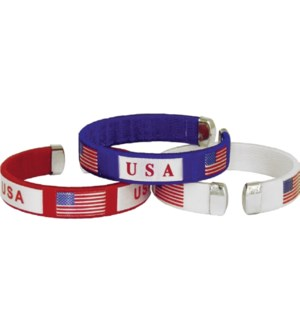USA Patriotic Wristband (Carded Available)