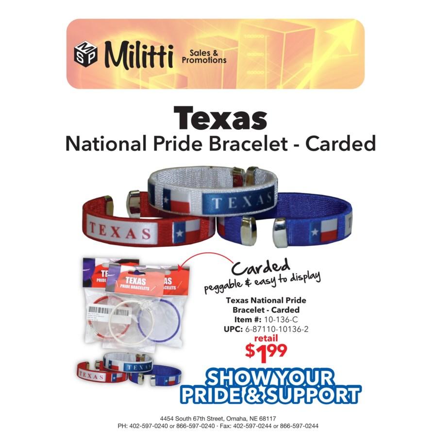 Carded Texas Bracelet