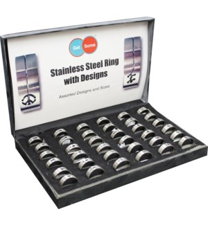 Stainless Steel Ring - 36pcs