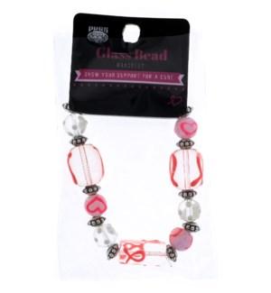Breast Cancer Awareness Beaded Bracelets