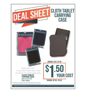 Cloth Tablet Carrying Case