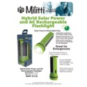 Hybrid Solar Power and AC Rechargeable Flashlight