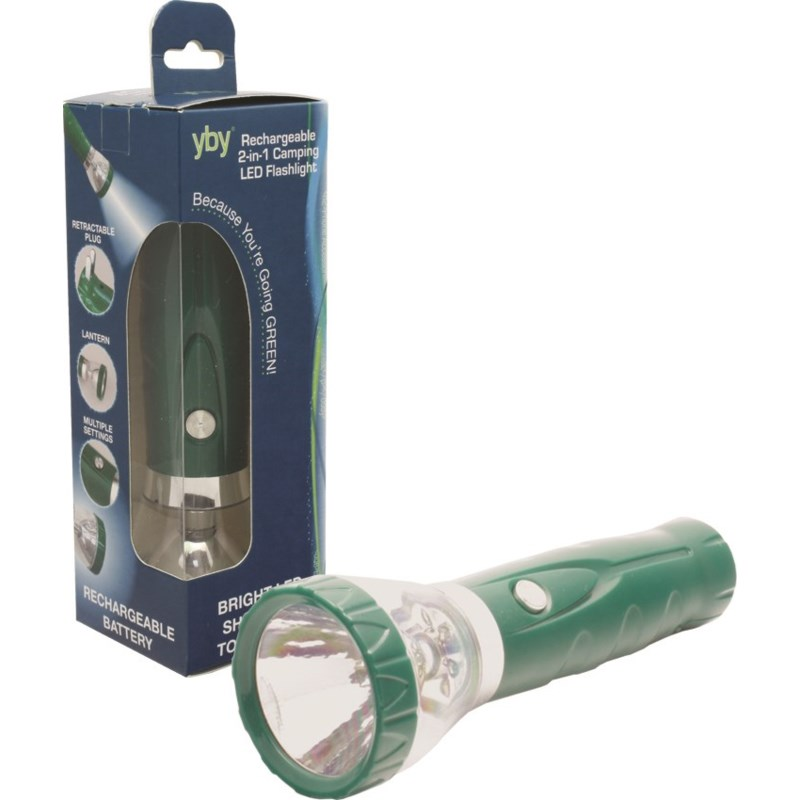 Rechargeable 2-in-1 Camping LED Flashlight