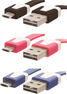 Connect + Charge Micro USB Flat Cable
