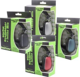 True Tech Soulzone Rockin Headphones with Mic