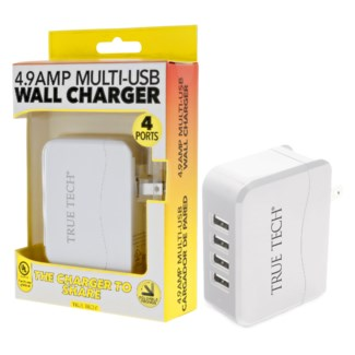 4.9 Amp Multi-USB Wall Charger
