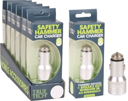 Safety Hammer Car Charger