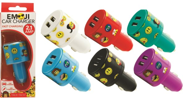 Emoji Car Charger - 2.1 Amp