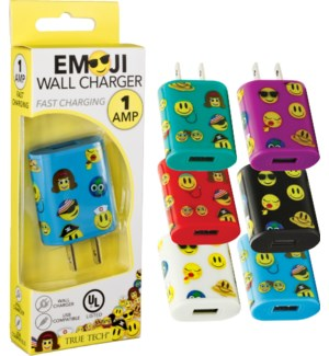 Emoji Wall Charger - UL Listed 1 Amp