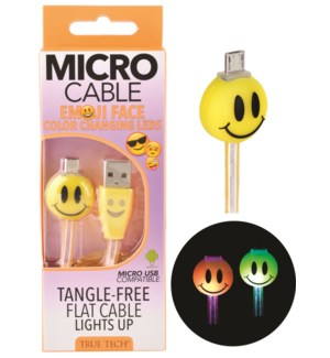 Light Up Emoji Micro Cable