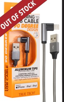 90 Degree Cable with Lightning Connector