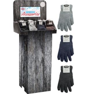 Yarn Gloves Lightweight Floor Display - 240pcs