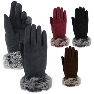 Fur Texting Gloves