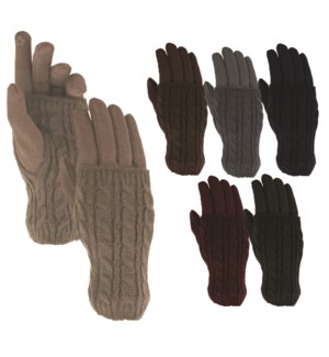 Texting Gloves with Wrist Warmer