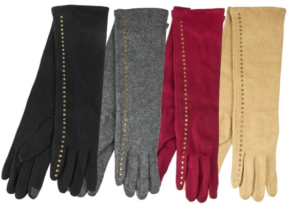Full Length Wool Texting Gloves
