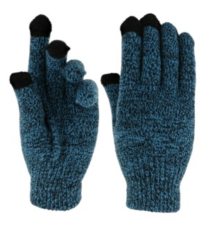 Team Spirit Touch Gloves - Blue/Black