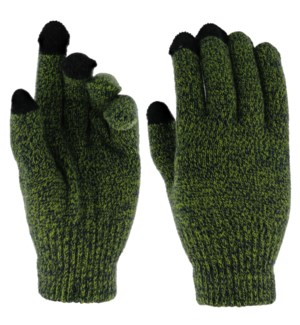 Team Spirit Touch Gloves - Blue/Green