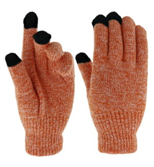 Team Spirit Touch Gloves - Burnt Orange/White