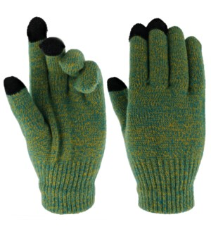 Team Spirit Touch Gloves - Green/Gold