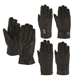 Vegan Leather Gloves - Women's