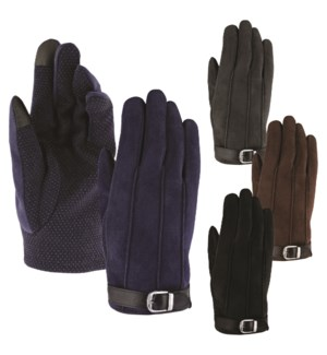 Texting Gloves - Slip Resistant with Buckle