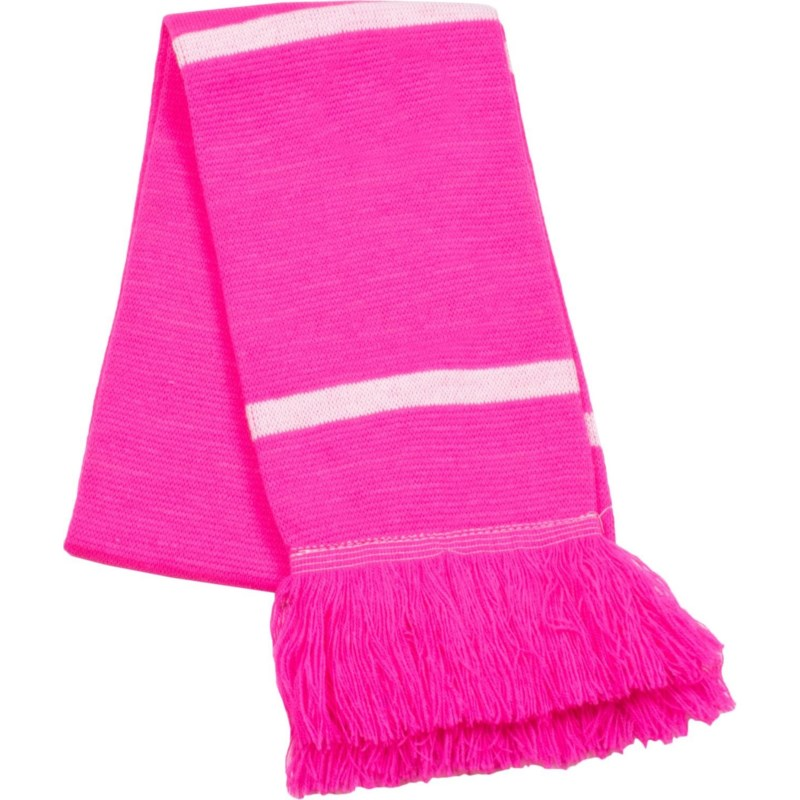 Scarf with Fringe Pink/White  - Stadium Series