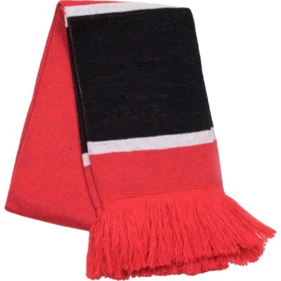 Scarf with Fringe Red/White/Black  - Stadium Series