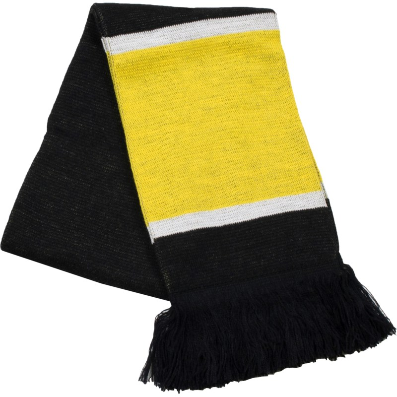 Scarf with Fringe Black/Gold/White  - Stadium Series