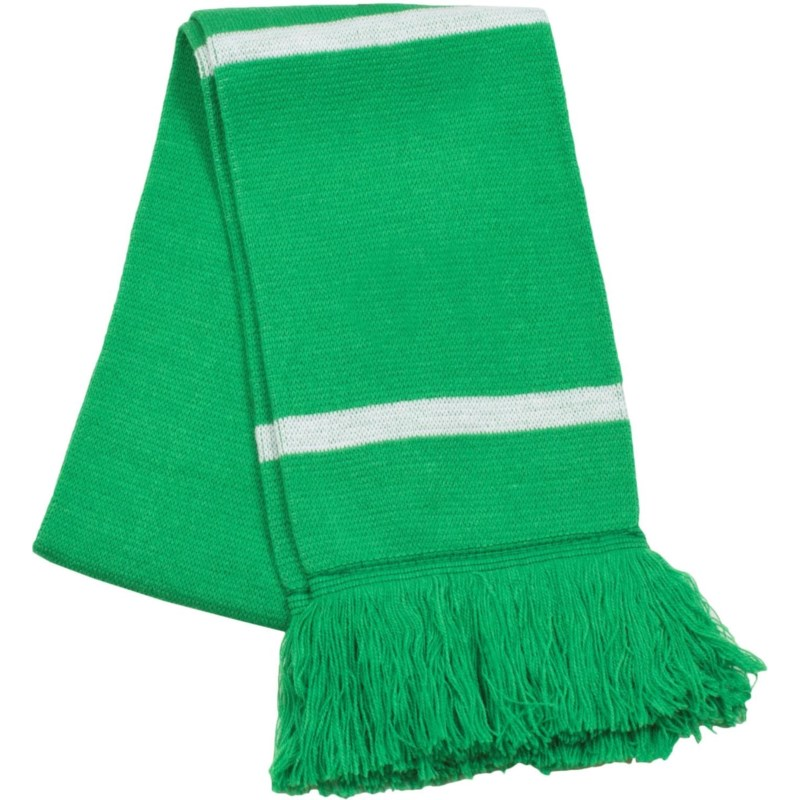 Scarf with Fringe Green/White  - Stadium Series