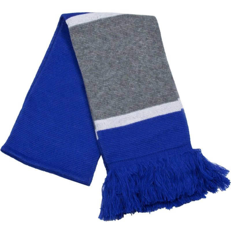 Scarf with Fringe Blue/Gray/White  - Stadium Series