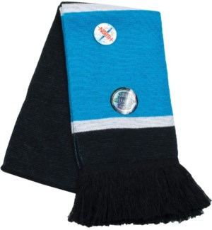 Scarf with Fringe Blue/White/Black  - Stadium Series