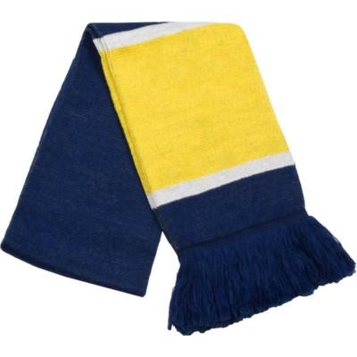 Scarf with Fringe Blue/Gold/White  - Stadium Series