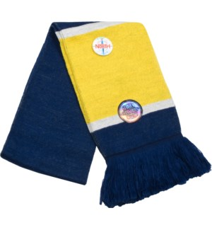 Scarf with Fringe Blue/Gold/White  - Stadium Series