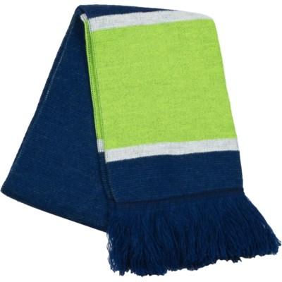 Scarf with Fringe Blue/Green/White  - Stadium Series