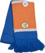 Scarf with Fringe Blue/Orange/White  - Stadium Series