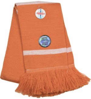 Scarf with Fringe Burnt Orange/White  - Stadium Series