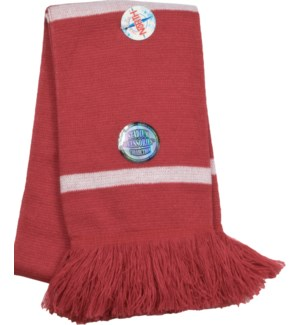 Scarf with Fringe Crimson/White  - Stadium Series
