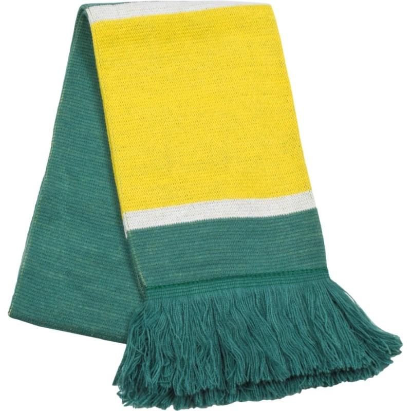 Scarf with Fringe Green/Gold/White  - Stadium Series