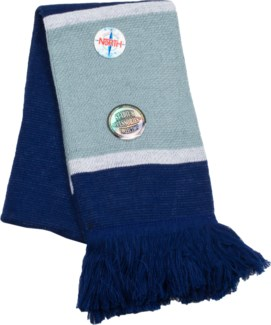 Scarf with Fringe Navy/White/Gray  - Stadium Series