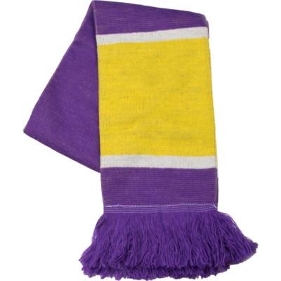 Scarf with Fringe Purple/Gold/White  - Stadium Series