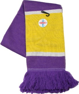 Scarf with Fringe Purple/Gold/White  - Stadium Series