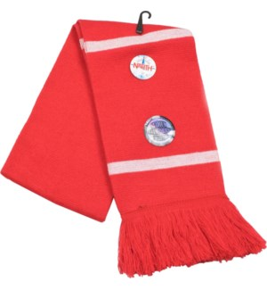 Scarf with Fringe Red/White  - Stadium Series