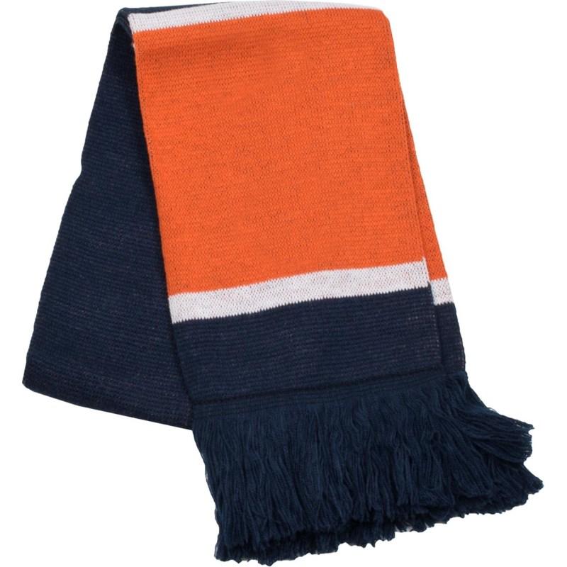 Scarf with Fringe Navy/Orange/White  - Stadium Series