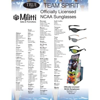 b714a52aee9 Officially Licensed NCAA Sunglasses - stadium accessories - Militti ...