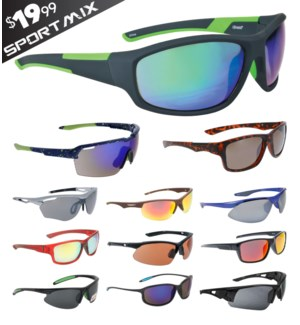 iShield Black Tag Sunglasses Sport Mix