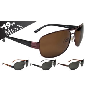 Hallandale Men's $19.99 Polarized Sunglasses