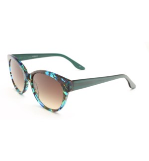 Atlantis Luxury Handmade Sunglasses (Brown/Blue/Green Pattern)