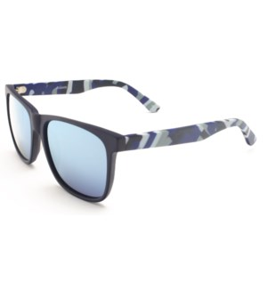 Atlantis Luxury Handmade Sunglasses (Matte Solid Blue)