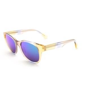 Atlantis Luxury Handmade Sunglasses (Crystal Blue Gold)
