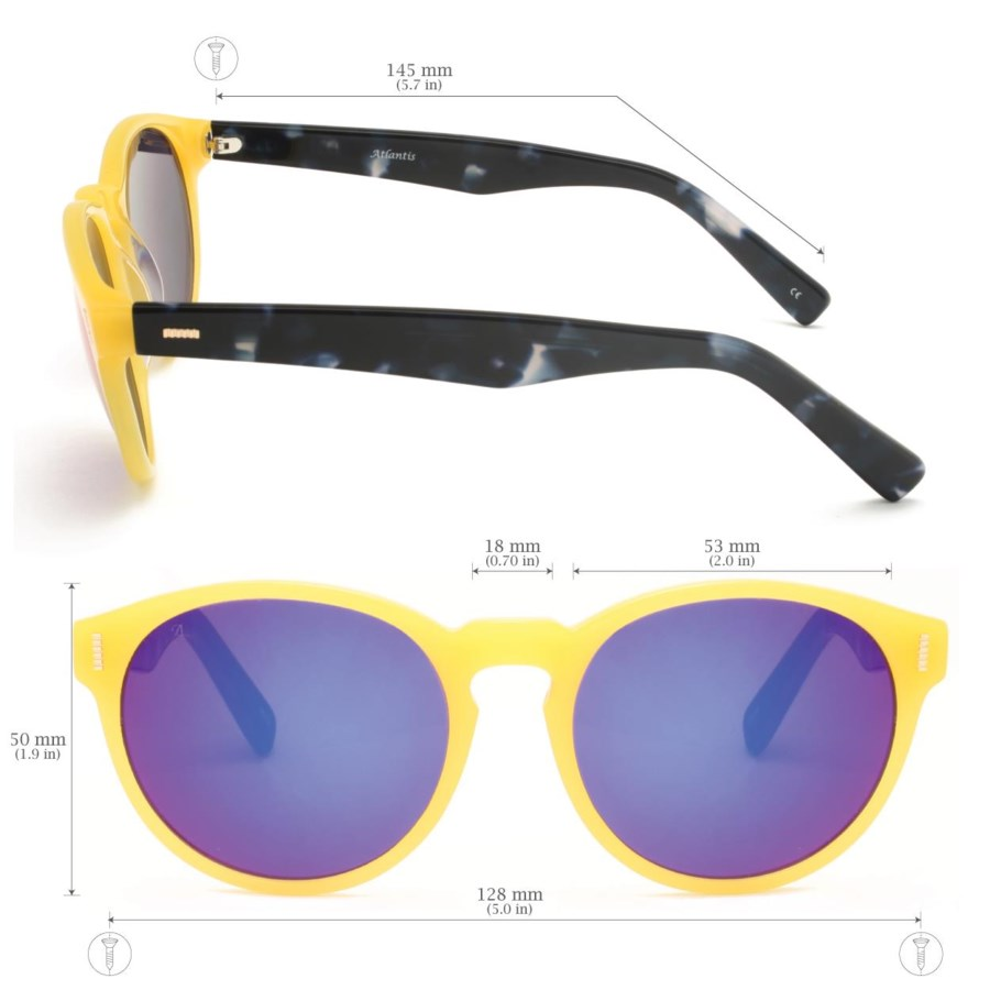 Atlantis Luxury Handmade Sunglasses (Yellow)